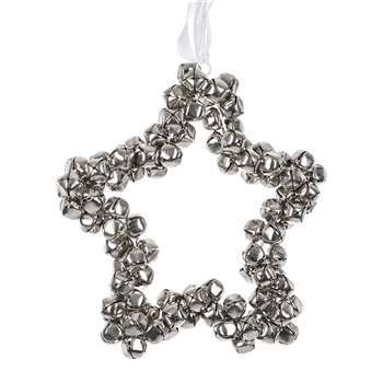 A by Amara - Star Hanging Ornament - Silver (H35 x W35 x D35cm)