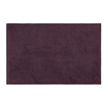 A by Amara - Super Soft Cotton 1650gsm Bath Mat - Aubergine (50 x 80cm)