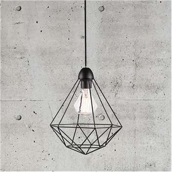 A by Amara - Tees Black Pendant Light (H34 x D29cm)