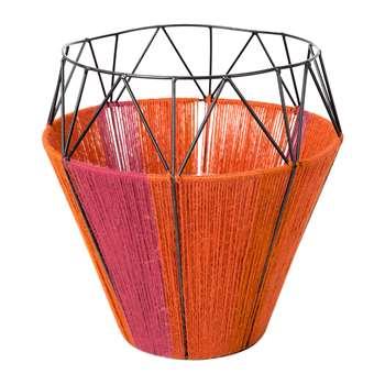 A by Amara - Thin Base Rope Lantern - Coral (30 x 29cm)