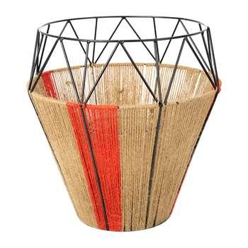 A by Amara - Thin Base Rope Lantern - Natural (30 x 29cm)