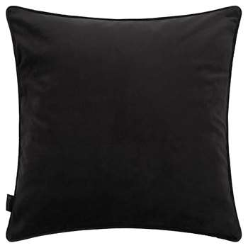 A by Amara - Velvet Cushion - Black (H45 x W45cm)