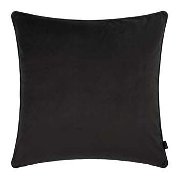 A by Amara - Velvet Cushion - Black (60 x 60cm)