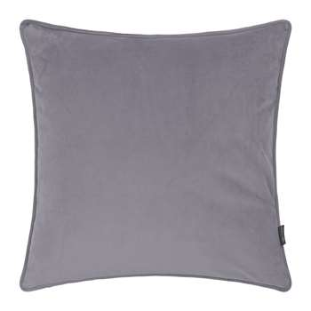 A by Amara - Velvet Cushion - Grey (45 x 45cm)