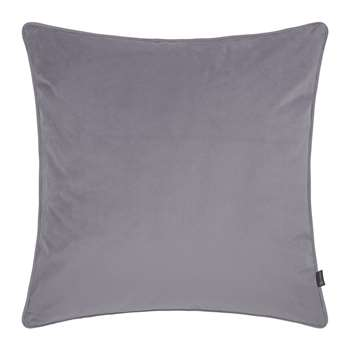 A by Amara - Velvet Cushion - Grey  (60 x 60cm)