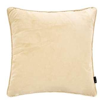 A by Amara - Velvet Cushion - Natural (H45 x W45cm)