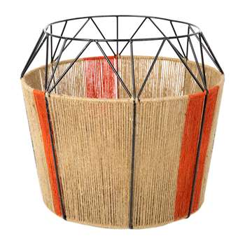 A by Amara - Wide Base Rope Lantern - Natural (32 x 33cm)