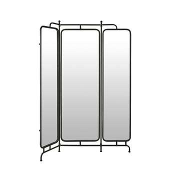AARON Black Metal and Mirror Screen (H178 x W141 x D2.5cm)