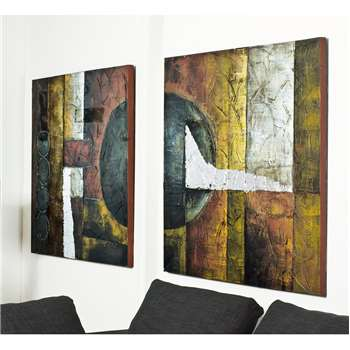Abstract art set of two (100 x 100cm)