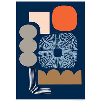 Abstract No1 Print By Eloise Renouf (H70 x W50cm)
