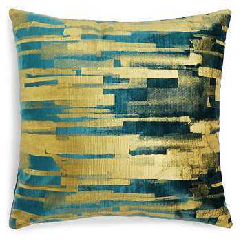 Abstract Print Cushion, Teal Mix (50 x 50cm)