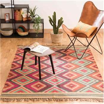 ACAPULCO woollen woven rug, multicoloured (160 x 230cm)
