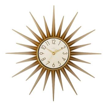 Acctim 21760 Stella Sprayed Starburst Wall Clock, Gold (Diameter 43cm)