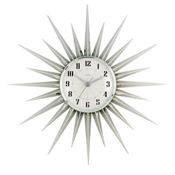 Acctim 21767 Stella Starburst Wall Clock, Silver (Diameter 43cm)