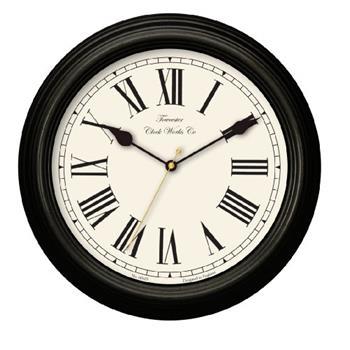 Acctim 26703 Redbourn Wall Clock, Black (Diameter 30cm)