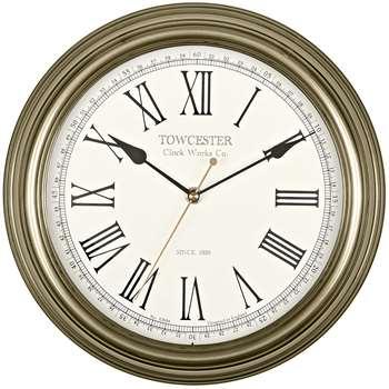 Acctim 26708 Redbourn Wall Clock, Gold (Diameter 30cm)