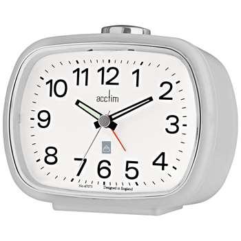 Acctim Camille Alarm Clock, Soft Grey (H9 x W10.6 x D6.4cm)