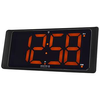 Acctim Coloma LED Digital Display Radio Controlled Alarm Clock, Black (H10.5 x W24.8 x D3.8cm)