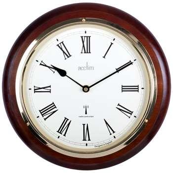 Acctim Durham Radio Controlled Wall Clock, Mahogany (H32 x W32 x D5.7cm)