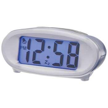 Acctim Eclipse Solar Dual Power Smartlite® Alarm Clock, Silver (H4.6 x W10.1 x D7.5cm)