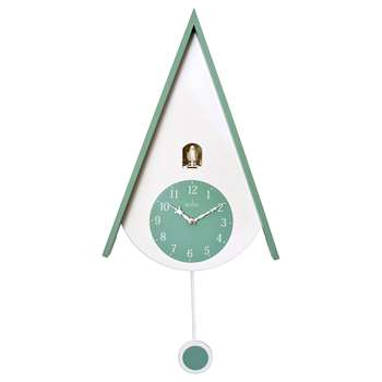 Acctim Isky Cuckoo Wall Clock, Green (H30 x W28 x D10cm)