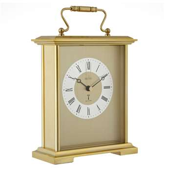 Acctim Radio Controlled Carriage Mantel Clock, Gold (H21.5 x W14 x D5.6cm)