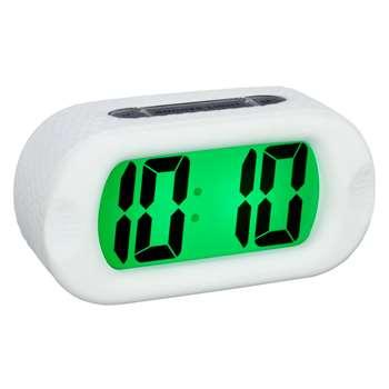 Acctim Silicone Jumbo LCD Smartlite® Alarm Clock, White (H7 x W14 x D5cm)