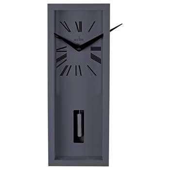 Acctim Ulrik Pendulum Wall Clock, Sky Grey (H40 x W15.2 x D8.1cm)
