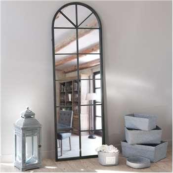 ACHILLE Black Metal Mirror (H180 x W59 x D4cm)