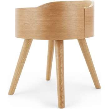 Ada Bedside Table, Oak (H50 x W40 x D40cm)