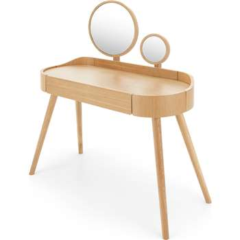Ada Dressing Table, Oak (H123 x W105 x D43cm)