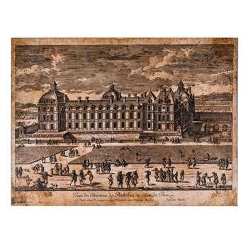 Adam Perelle - Veüe du Château de Richelieu du Côté du Parc (60 x 80cm)