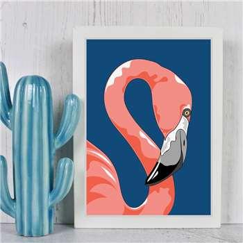 Adam Regester Design - Pink Flamingo A4 Portrait Print (H30 x W21cm)