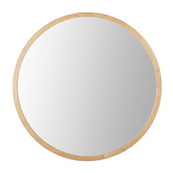 ADAM - Round Oak Mirror (Diameter 159cm)