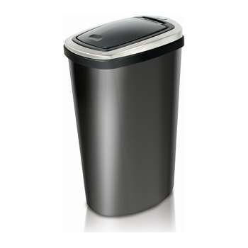 Addis 40 Litre Press Top Bin - Matt Black 61 x 28cm