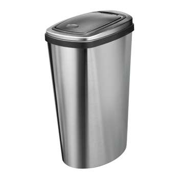 Addis 40 Litre Press Top Bin - Stainless Steel 61 x 28cm