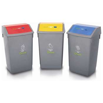 Addis 60 Litre 3 Piece Recycling Bin Kit 68 x 41cm