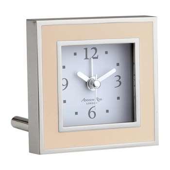 Addison Ross - Square Alarm Clock - Pink Enamel (H8 x W8cm)
