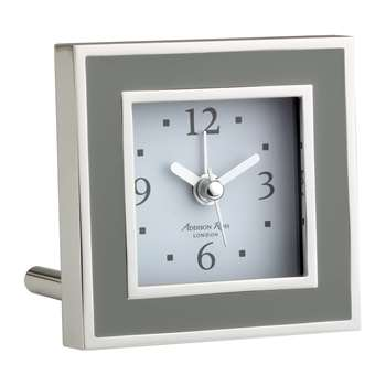 Addison Ross - Square Alarm Clock - Taupe Enamel (H8 x W8cm)