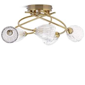 Adele 5 Light Flush, Antique Brass (H16 x W46 x D46cm)