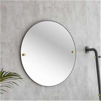 Adelphi Black Round Mirror (Diameter 55cm)
