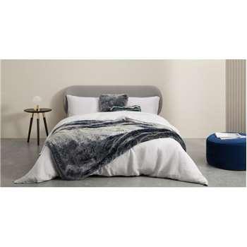 Adelphi Faux fur cushion, Blue (H50 x W50cm)