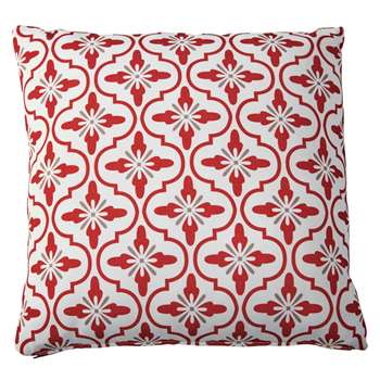 ADOUR outdoor cushion with tricoloured motifs (45 x 45cm)