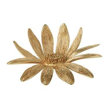 AERIN - Marguerite Brass Flower - Gold (5 x 13.5cm)