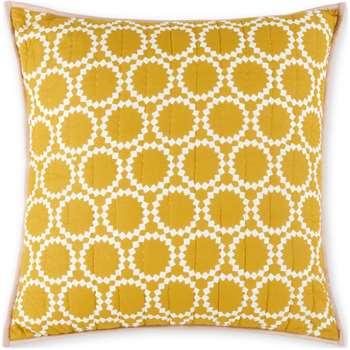 Agadir Cotton Reversible Cushion, Grey and  Saffron Yellow (H60 x W60cm)