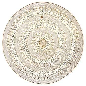 AGADIR Gold Metal Wire Wall Art (Diameter 130cm)