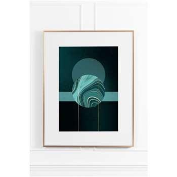 Agate Green No.1 - Brass Frame (H90 x W70cm)