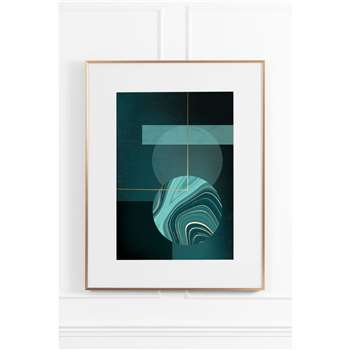 Agate Green No.3 - Brass Frame (H90 x W70cm)