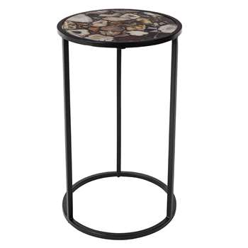 Agate Tall Round Side Table (51 x 30.5cm)