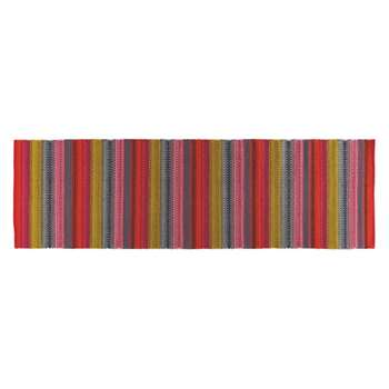 Agnes Bright stripe cotton runner 75 x 250cm
